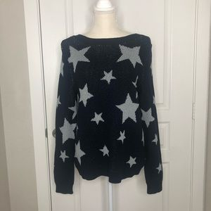 Marled Sweaters - Marled Reunited | Navy Grey Star Sweater Medium